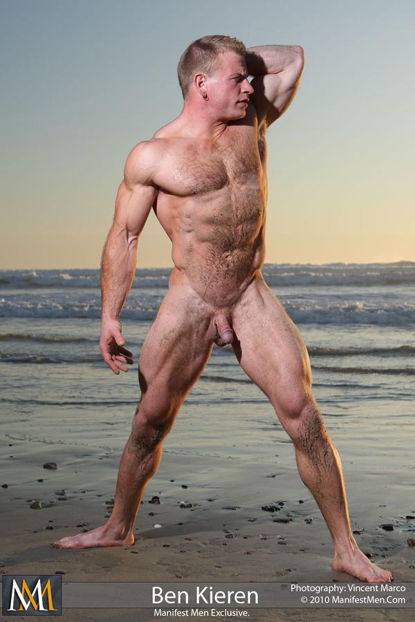 Muscle men nude beach seems